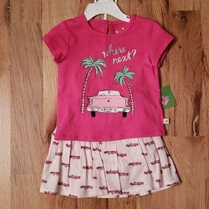 NWT Kate Spade Baby Pink Cadillac Skirt Set